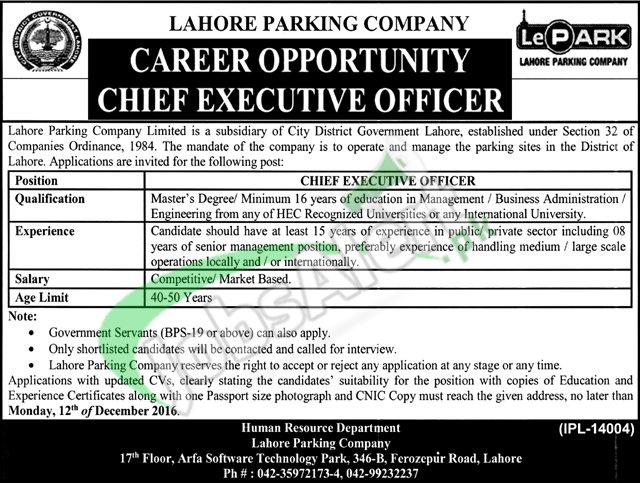 Lahore Parking Company