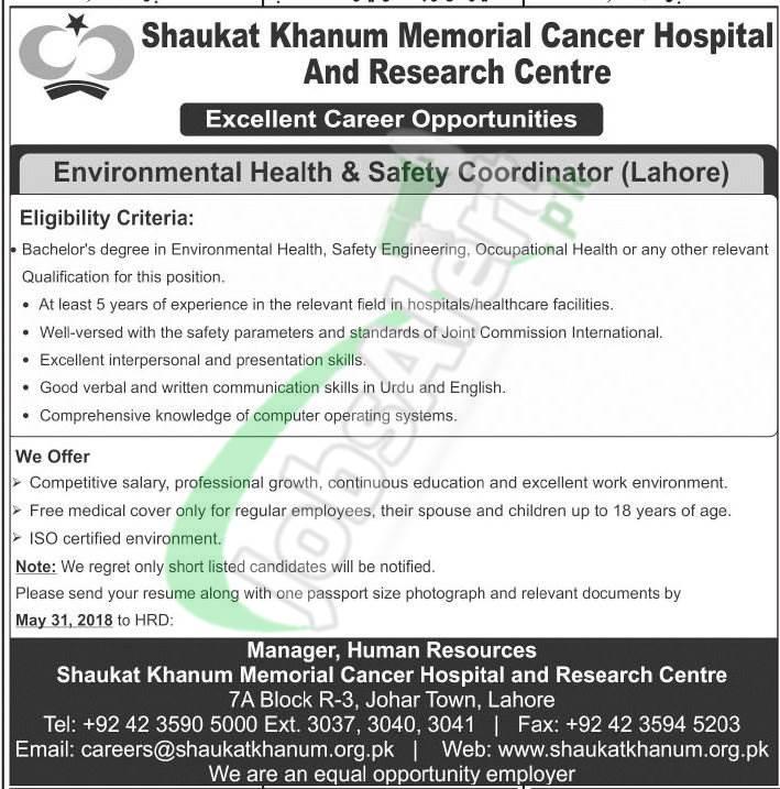 Shaukat Khanum Hospital Jobs