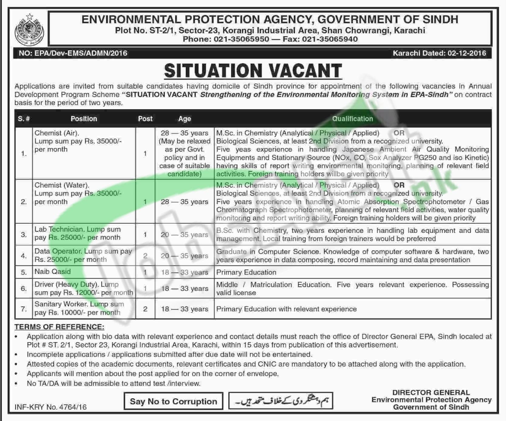 EPA Sindh