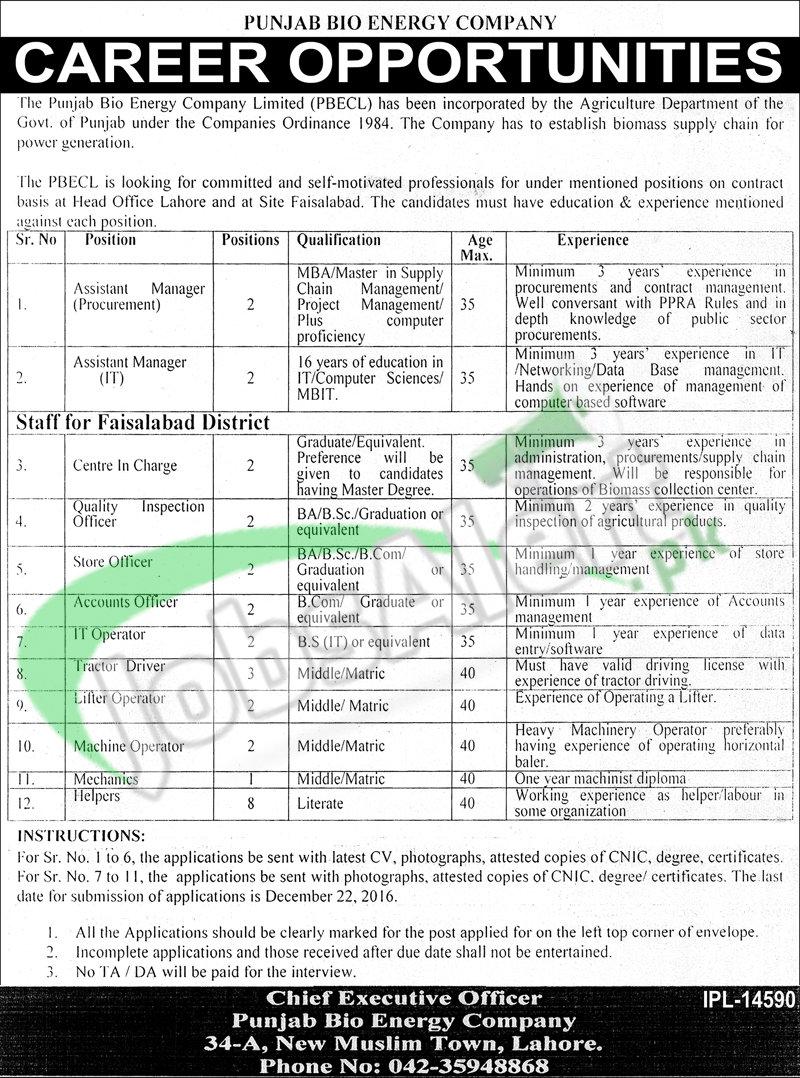 Punjab Bio Energy Company