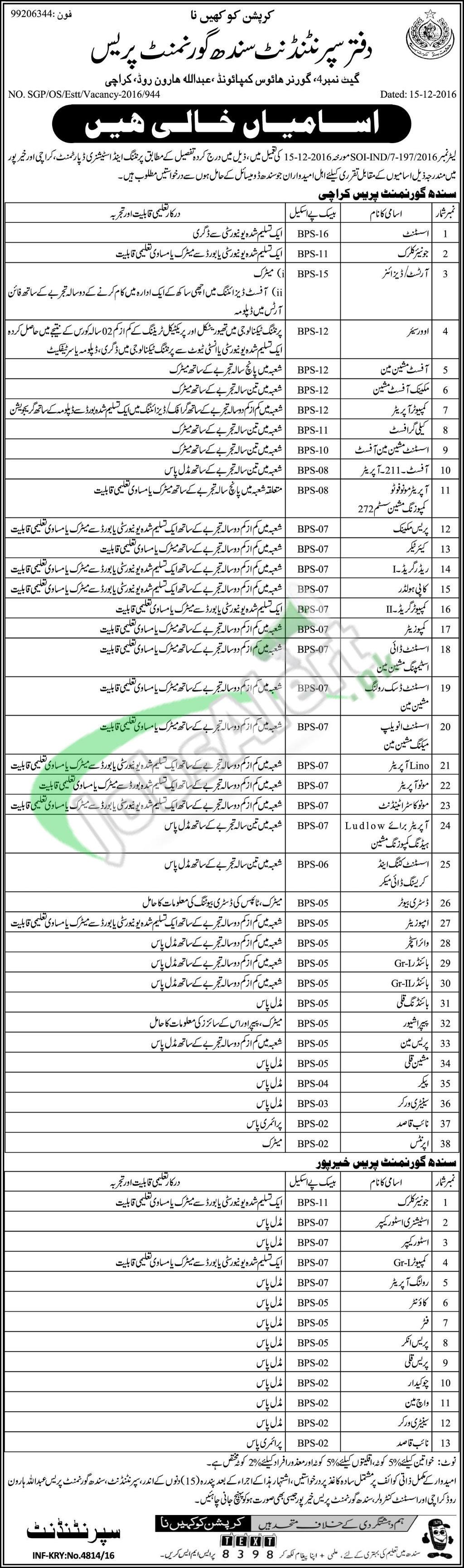 Sindh Govt Press