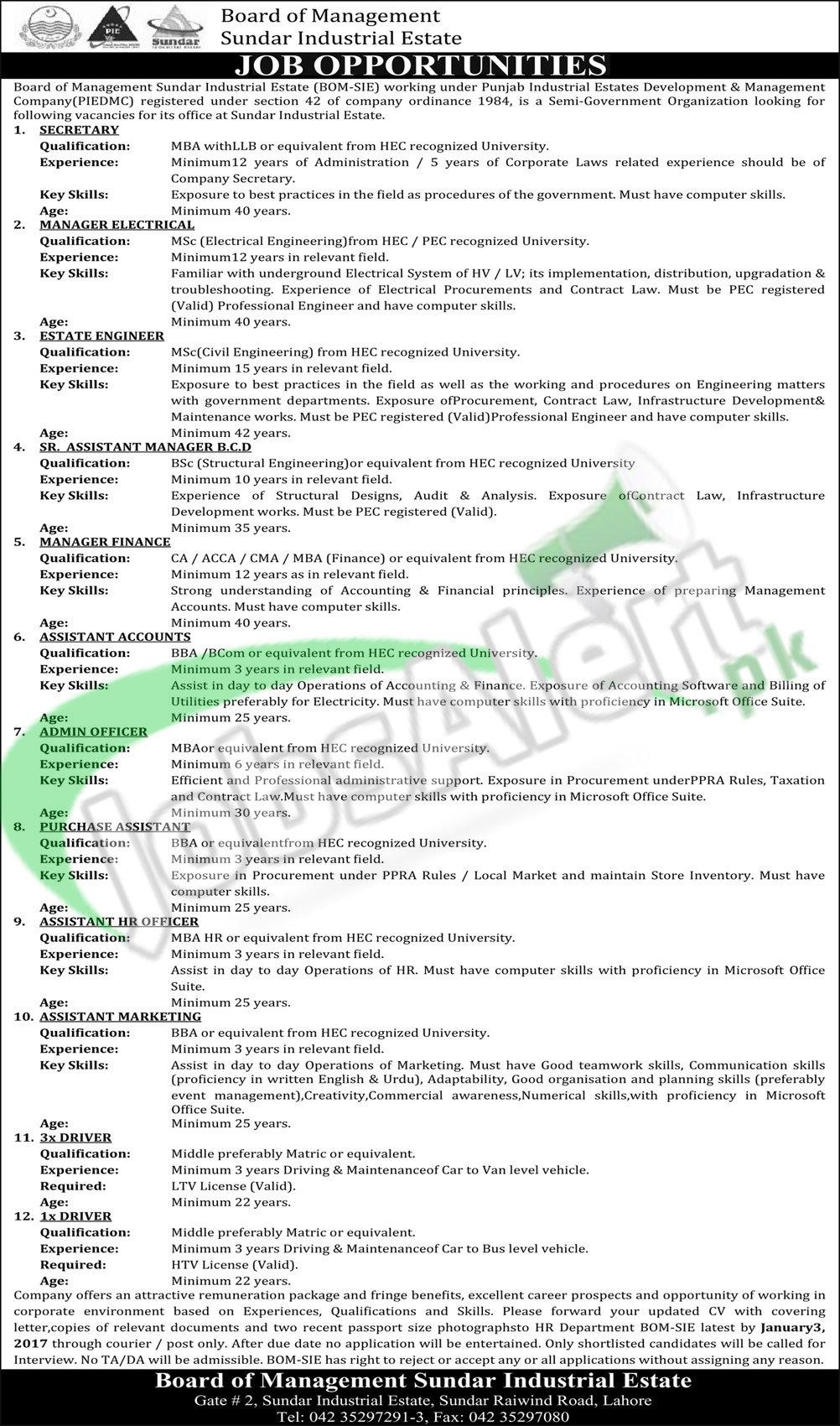 Board of Mangement Sundar Industrial Estate
