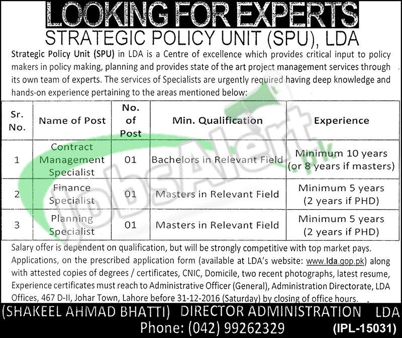 SPU Lahore Development Authority