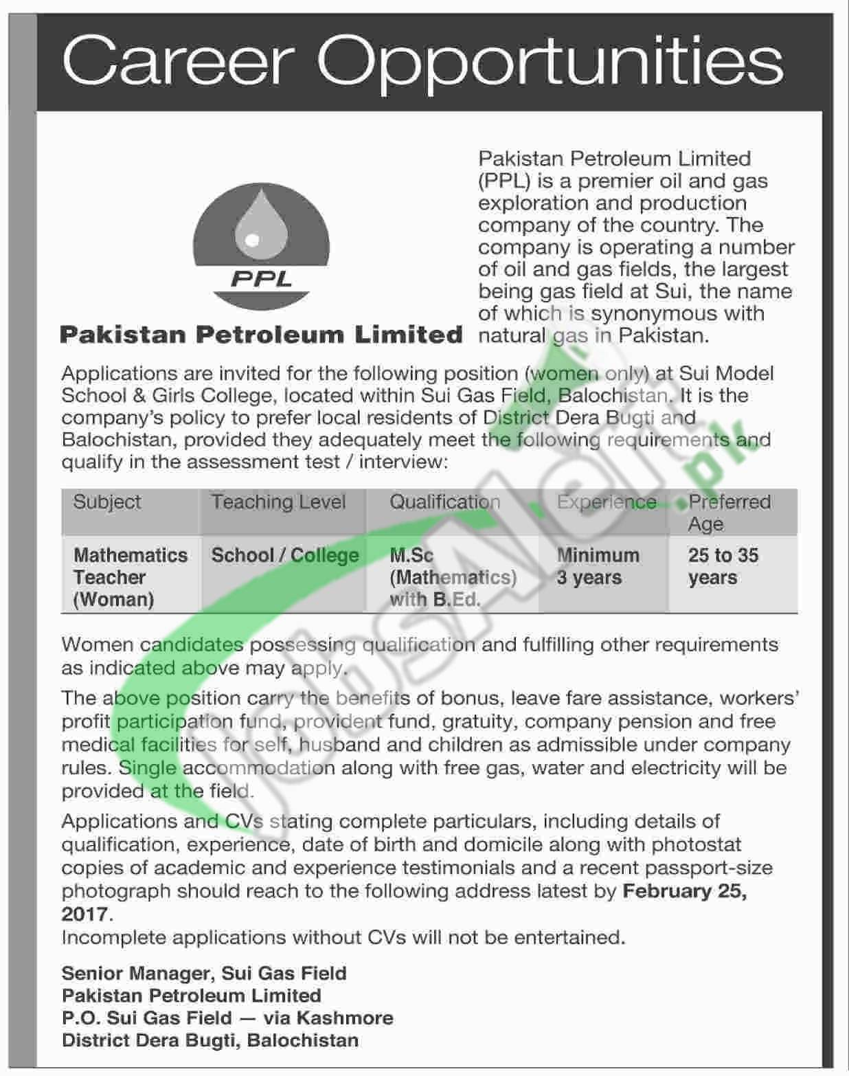Sui Gas Jobs