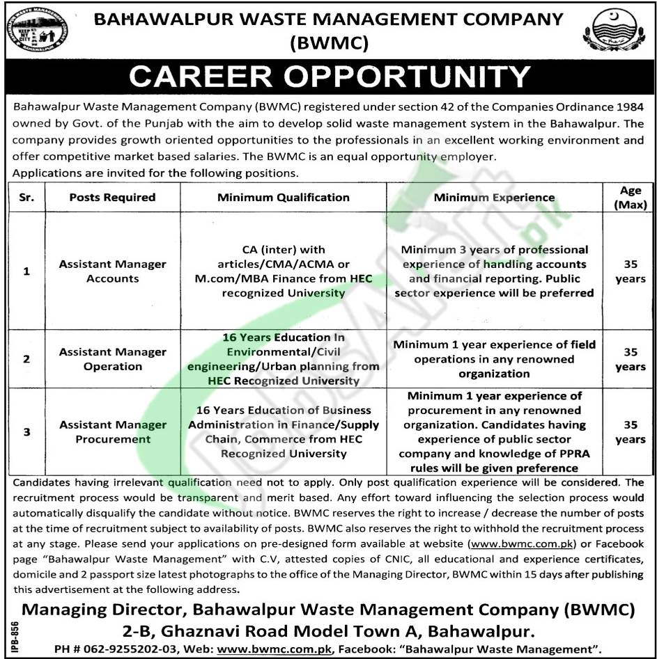 BWMC Jobs
