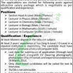 APS Attock Jobs