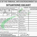 Tribunal Anti Encroachment Karachi Jobs