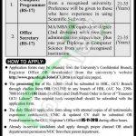GCU Lahore Jobs