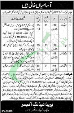 Labour Court Punjab Lahore Jobs