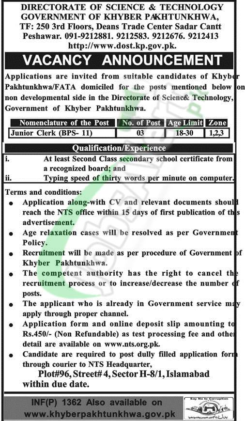 Government Jobs in KPK