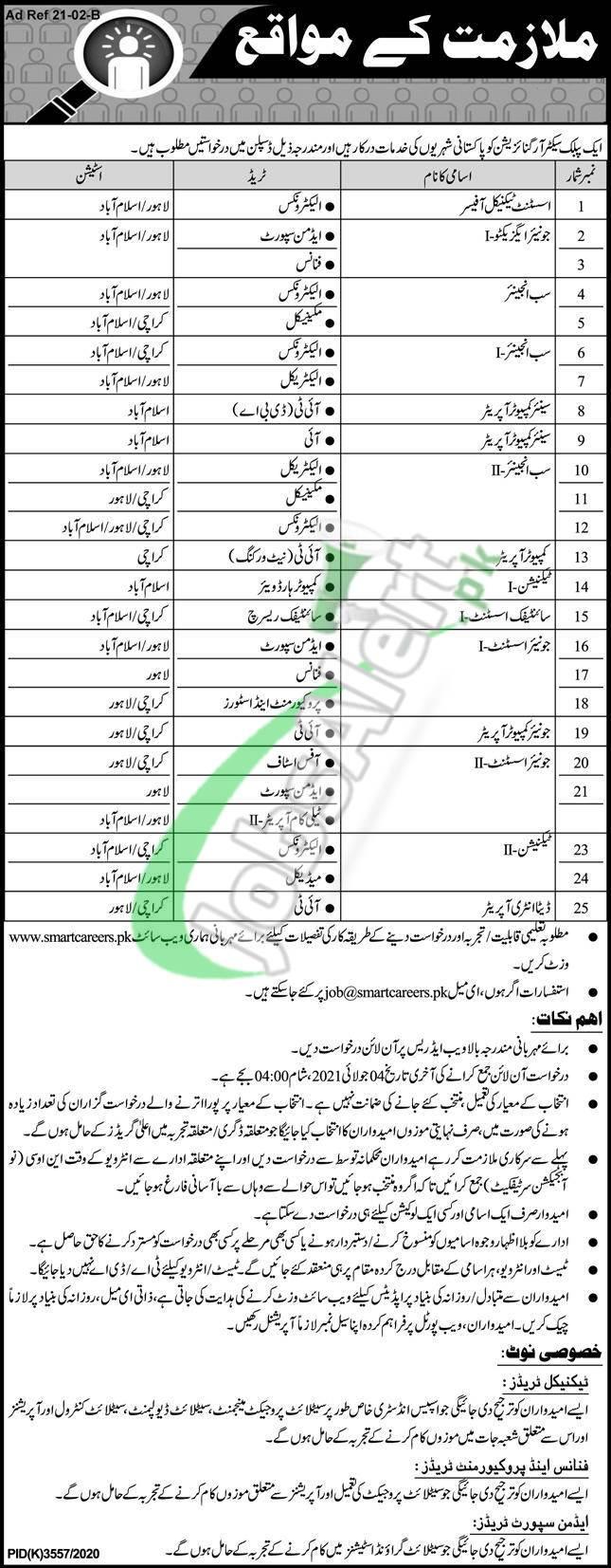 www.suparco.gov.pk Jobs