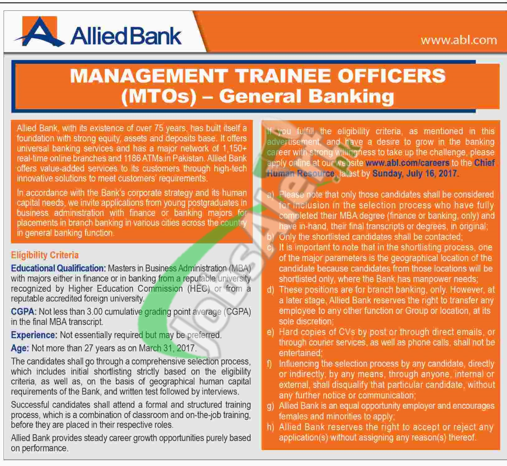 Allied Bank MTO 2017
