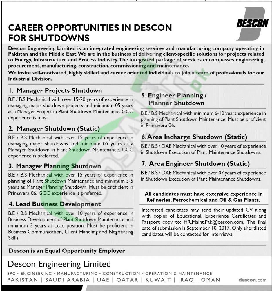 DESCON Jobs