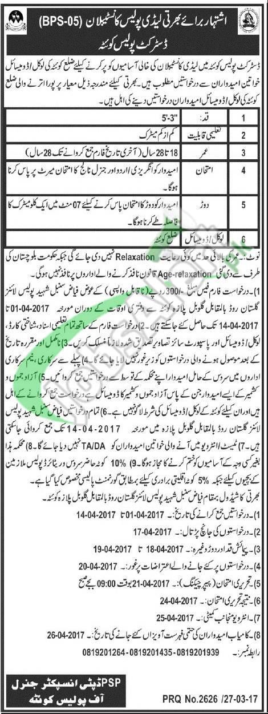 Quetta Police Jobs