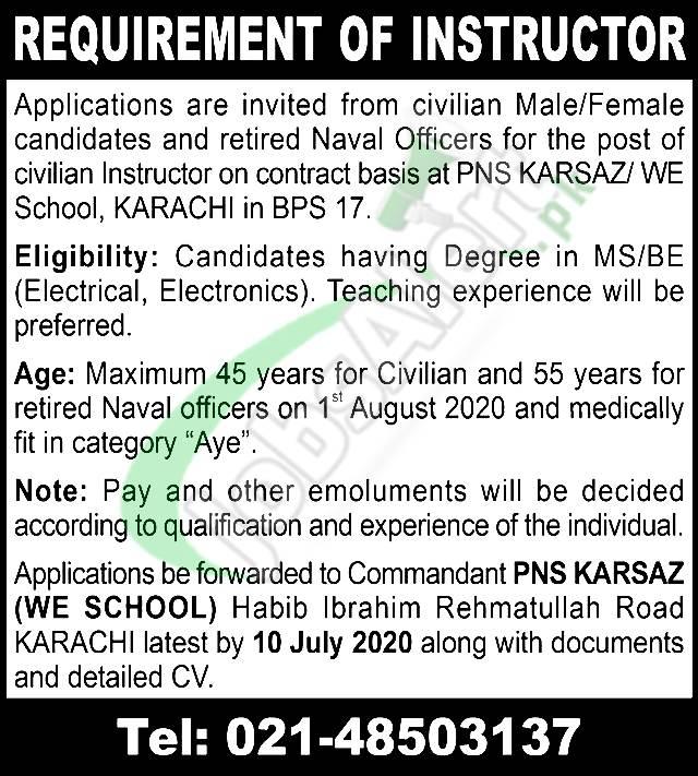 Civilian Instructor Jobs
