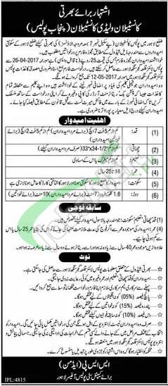 Punjab Police Constable Jobs