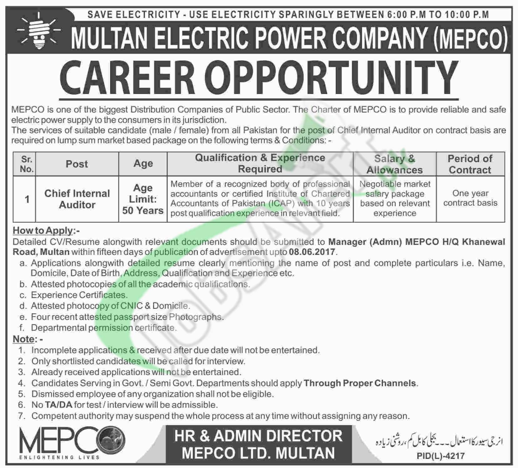 MEPCO Jobs