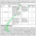 Junior Naval Academy Ormara Balochistan Jobs