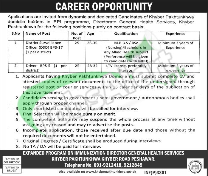 Jobs In Kpk Health Department 2017 Latest Employment Offers Jobs