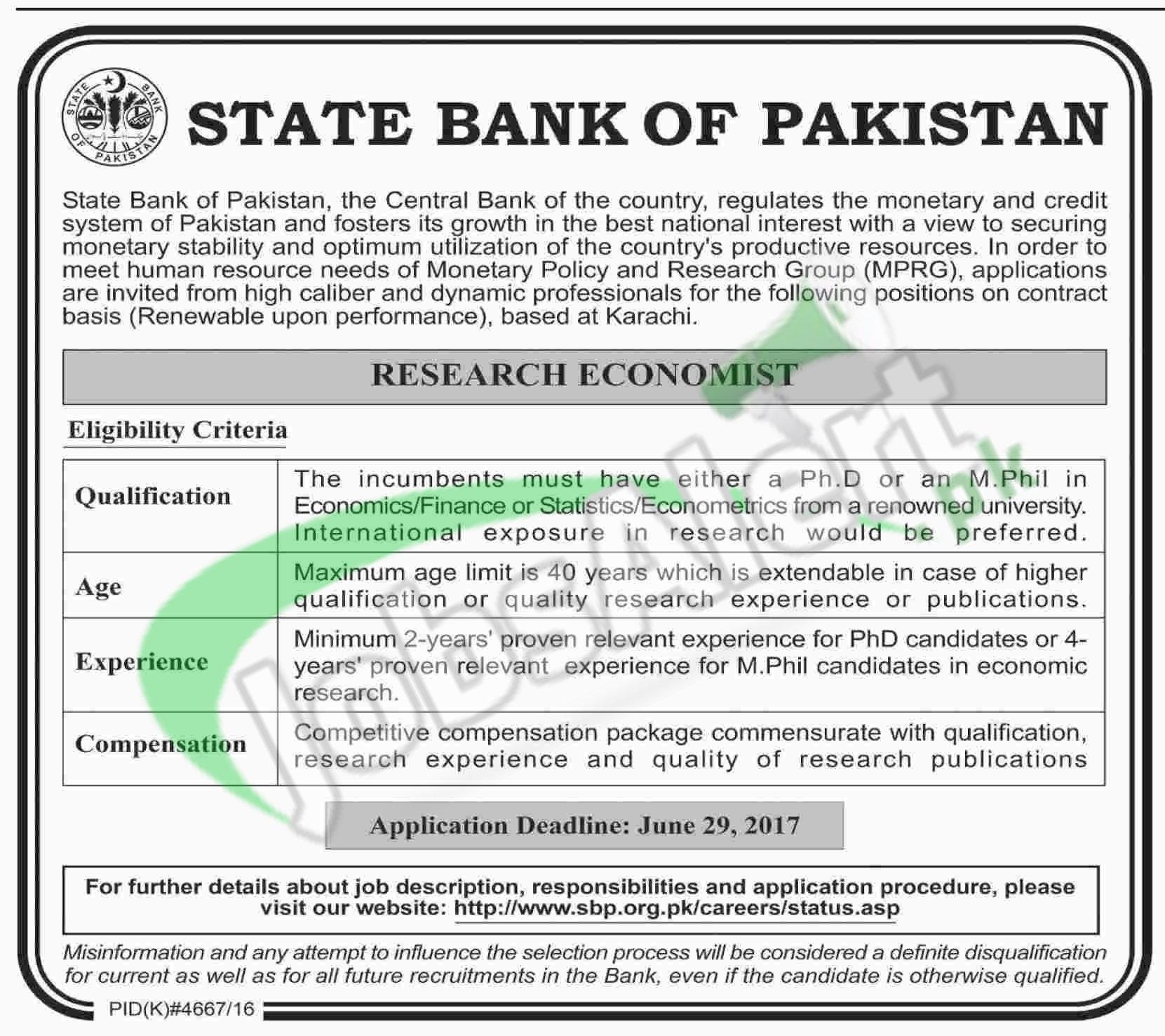 Sbp bank jobs 2017 in karachi online form download jobs in pakistan sbp falaconquin