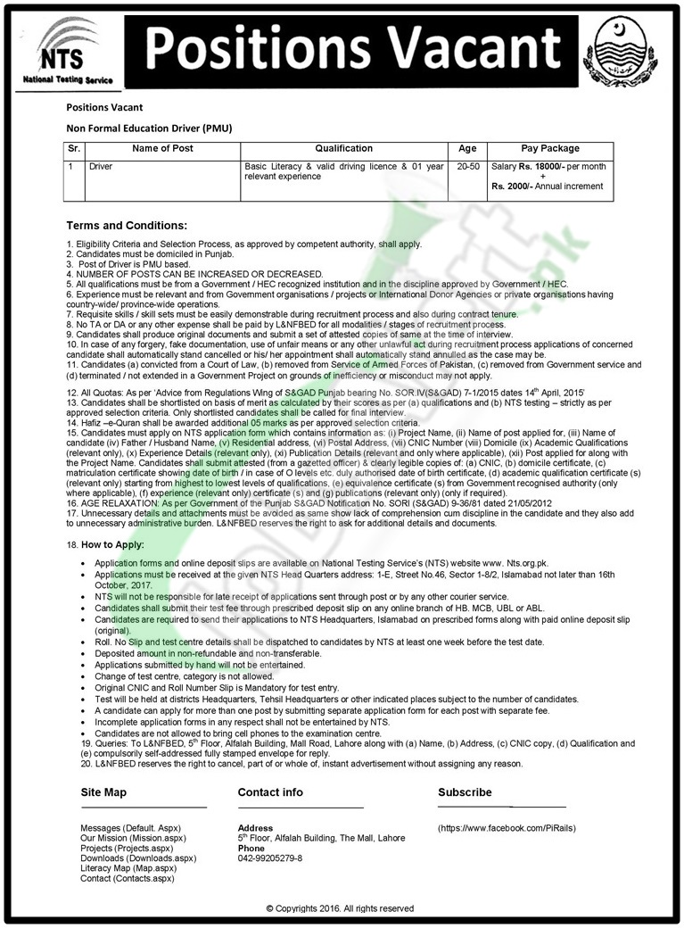 L&NFBE Job Form