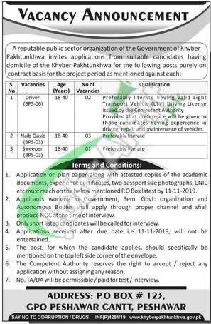Public Sector Organization KPK Jobs 2019