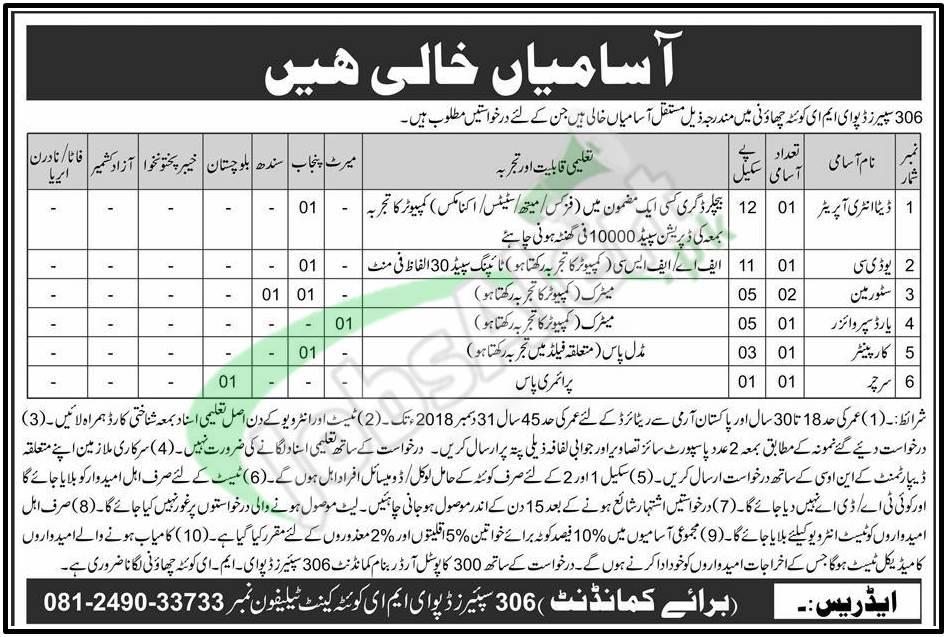 Pak Army Job