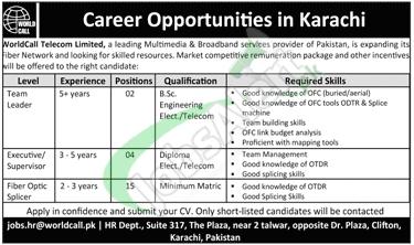 Worldcall Telecom Limited Karachi Jobs