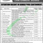 Rawalpindi Cantonment Board Jobs 2017
