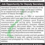 Islamabad Chamber of Commerce Jobs