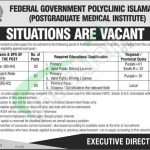 Federal Government Polyclinic Islamabad Jobs