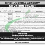Sindh Judicial Academy Jobs