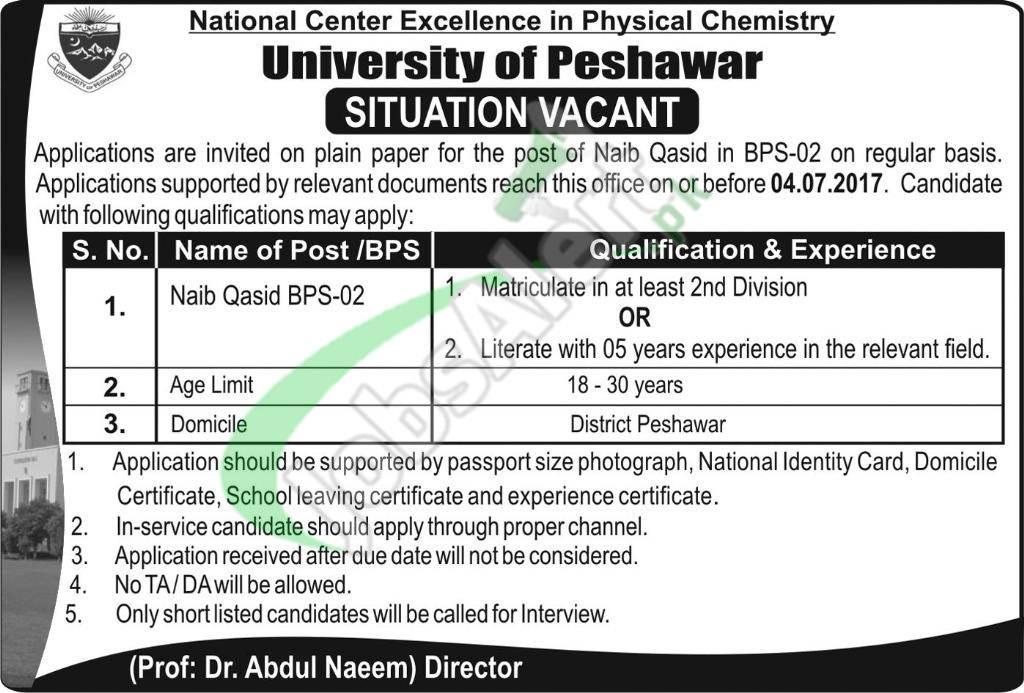 University of Peshawar Jobs