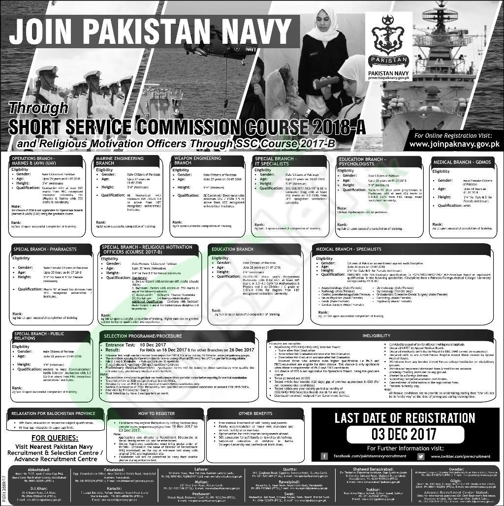 Join Pak Navy 2018