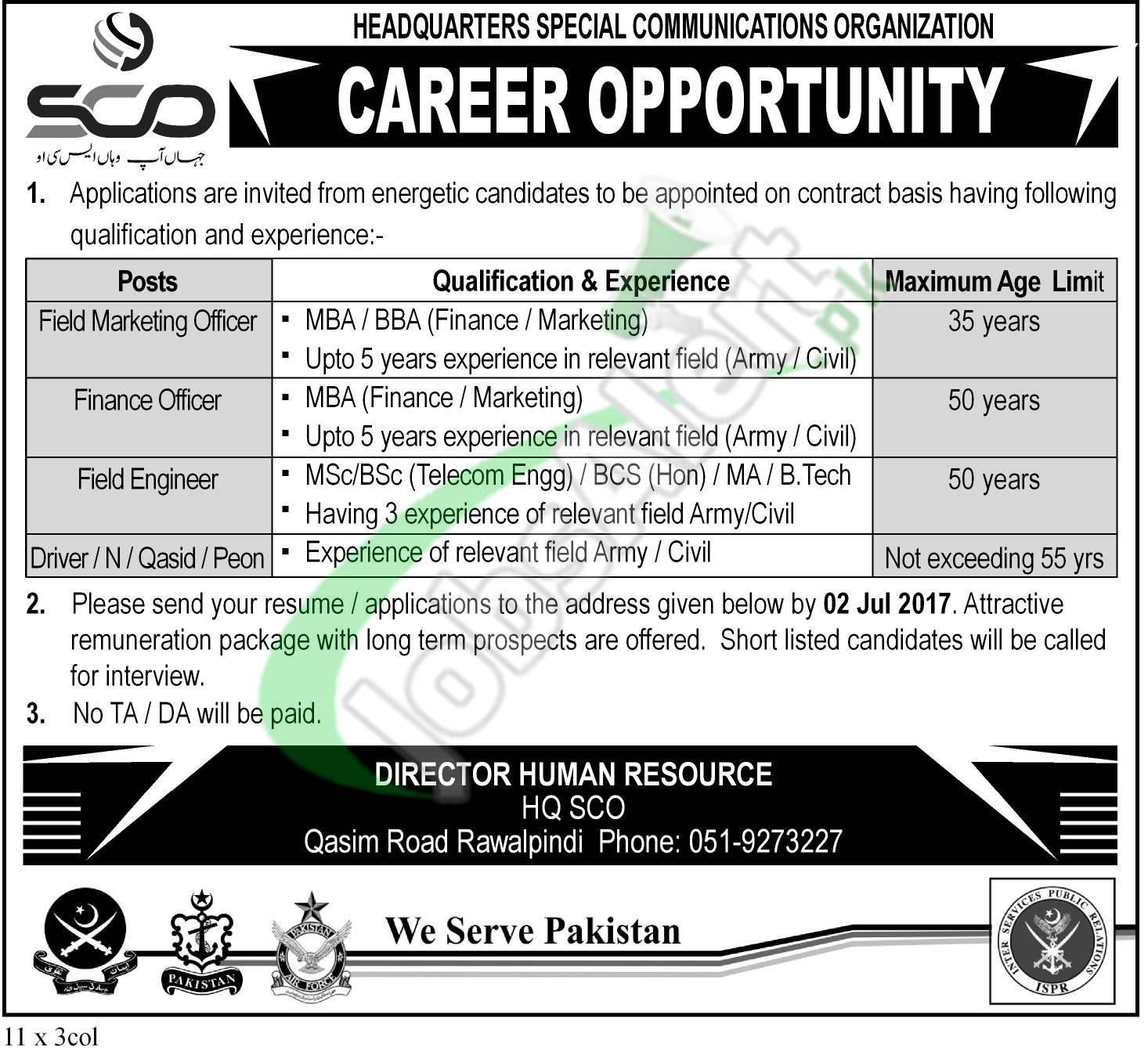 Special Communication Organization Jobs