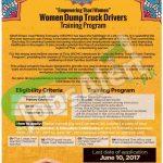 Women Dump Truck Drivers Trainign Program