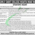 Girls Cadet College Mardan Jobs 2018