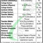 Fazaia Degree College Arf Kamra Jobs