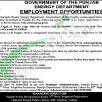 Energy Department Punjab Jobs