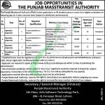 Punjab Masstransit Authority Jobs 2019