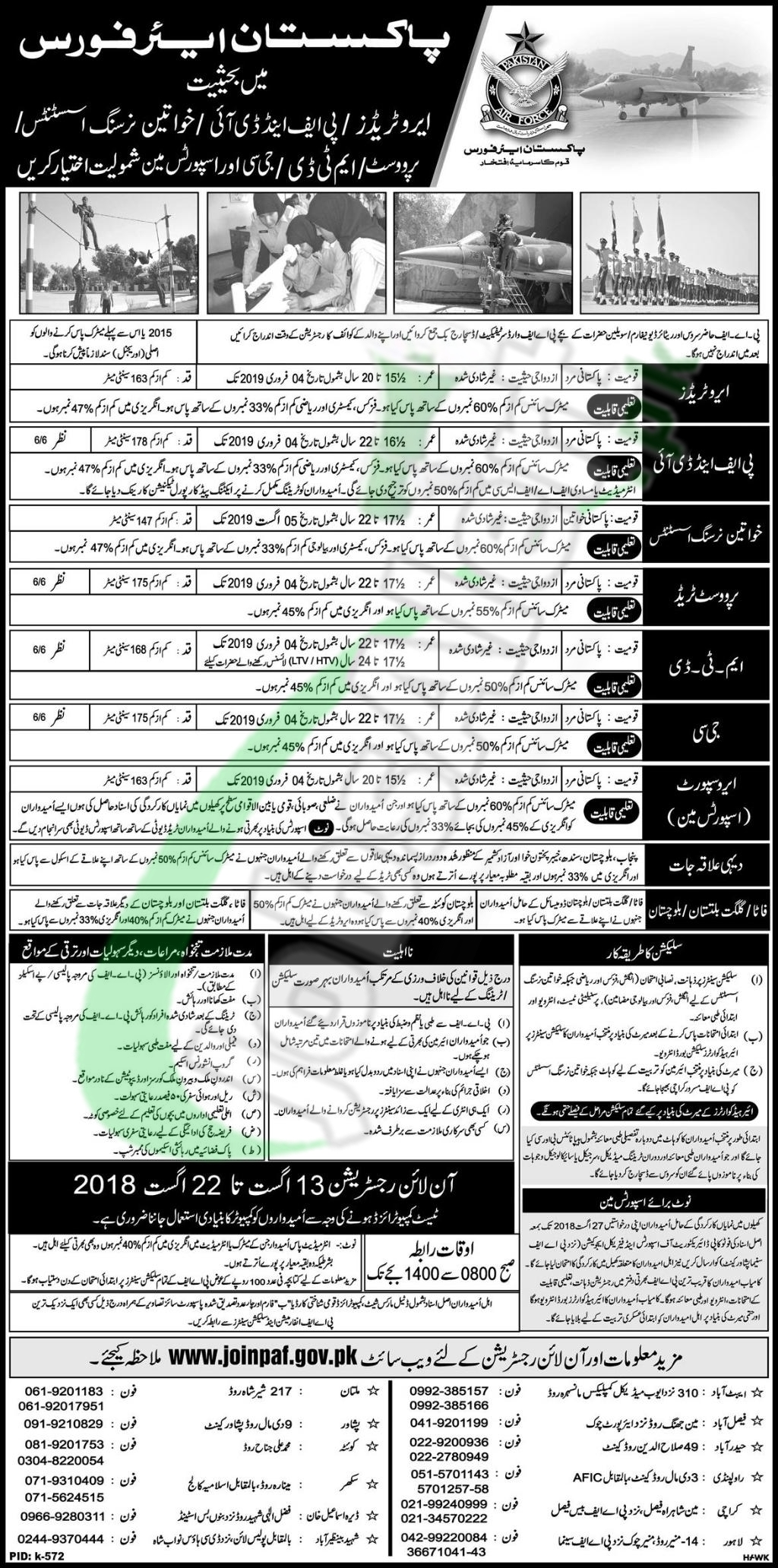 Join PAF After Matric 2018