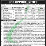 PAEC Foundation School Faisalabad Jobs 2018