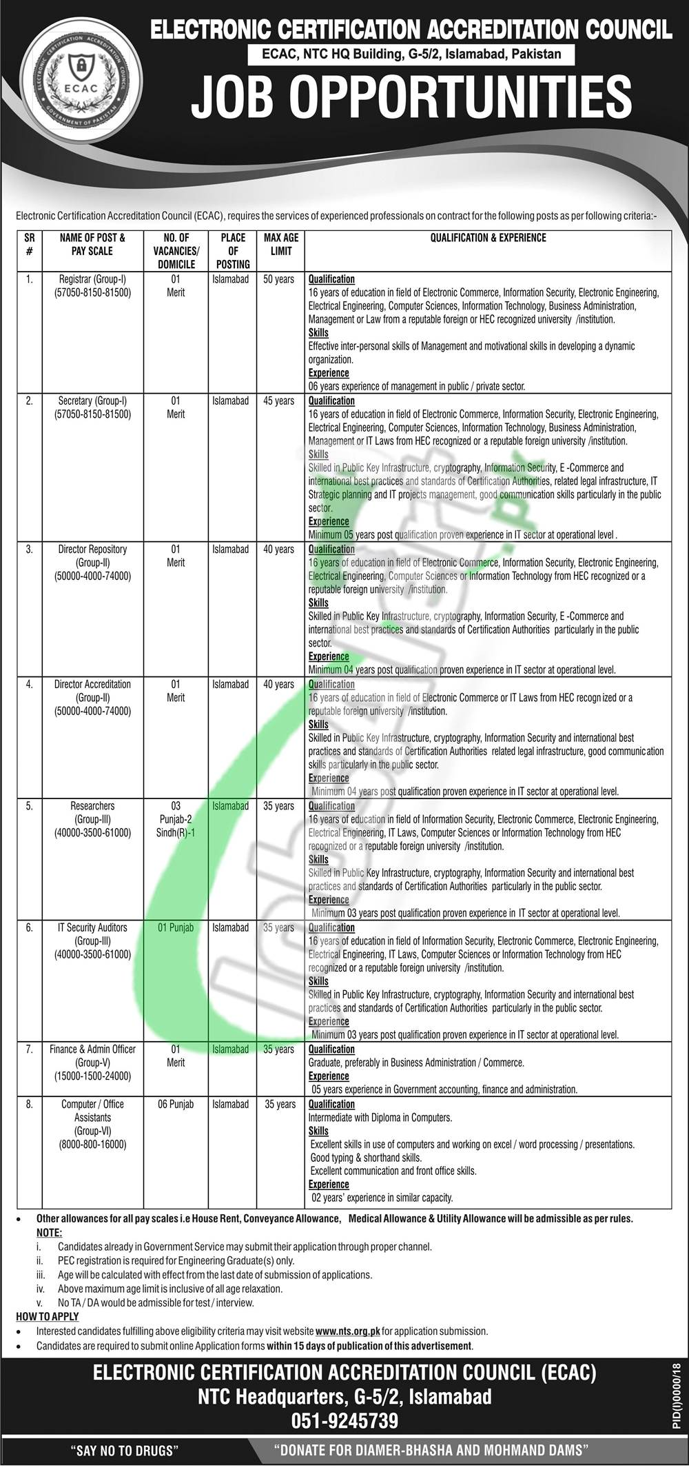 ECAC Pakistan Jobs