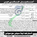 District and Session Court Swabi Jobs