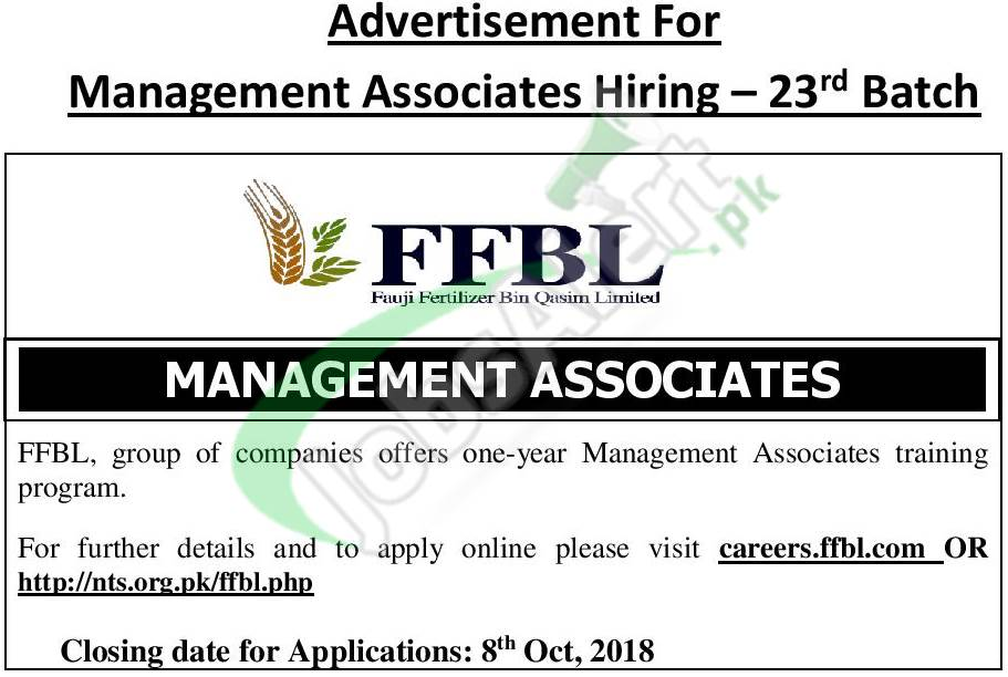 Fauji Fertilizer Bin Qasim Management Associate Program