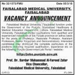 Faisalabad Medical University Jobs