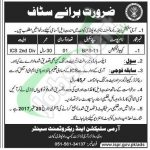 Pak Army Selection and Recruitment Centre Rawalpindi Jobs