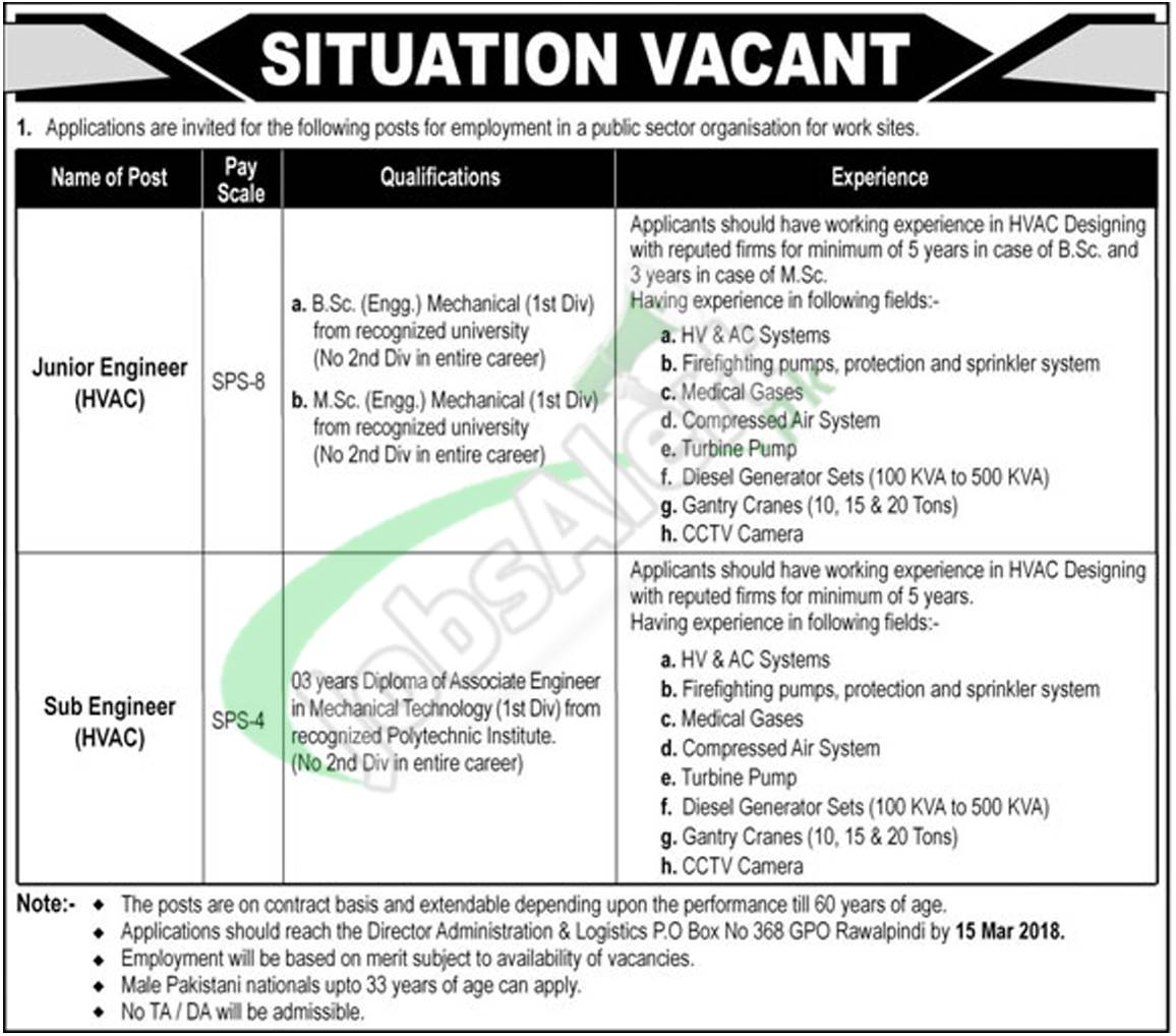 Atomic Energy Jobs February 2018 PO Box 368 GPO Rawalpindi Latest ...