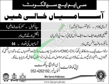CMH Sialkot Jobs