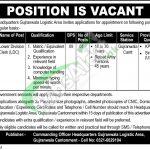 Headquarters Gujranwala Logistic Area Jobs